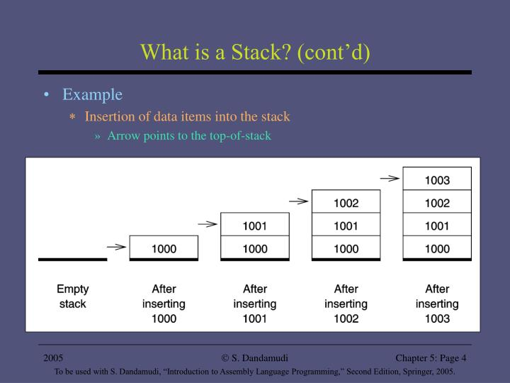 What is a Stack? (cont'd)