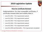 2010 legislative update14