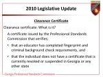 2010 legislative update22