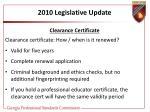2010 legislative update26