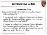 2010 legislative update27