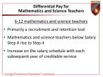 differential pay for mathematics and science teachers39