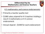 differential pay for mathematics and science teachers43