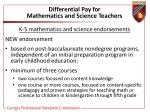 differential pay for mathematics and science teachers45
