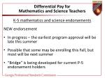 differential pay for mathematics and science teachers47