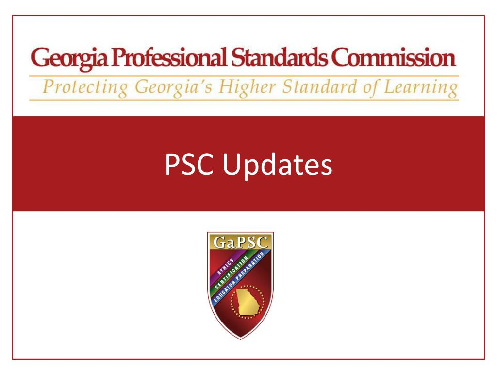 psc updates l.