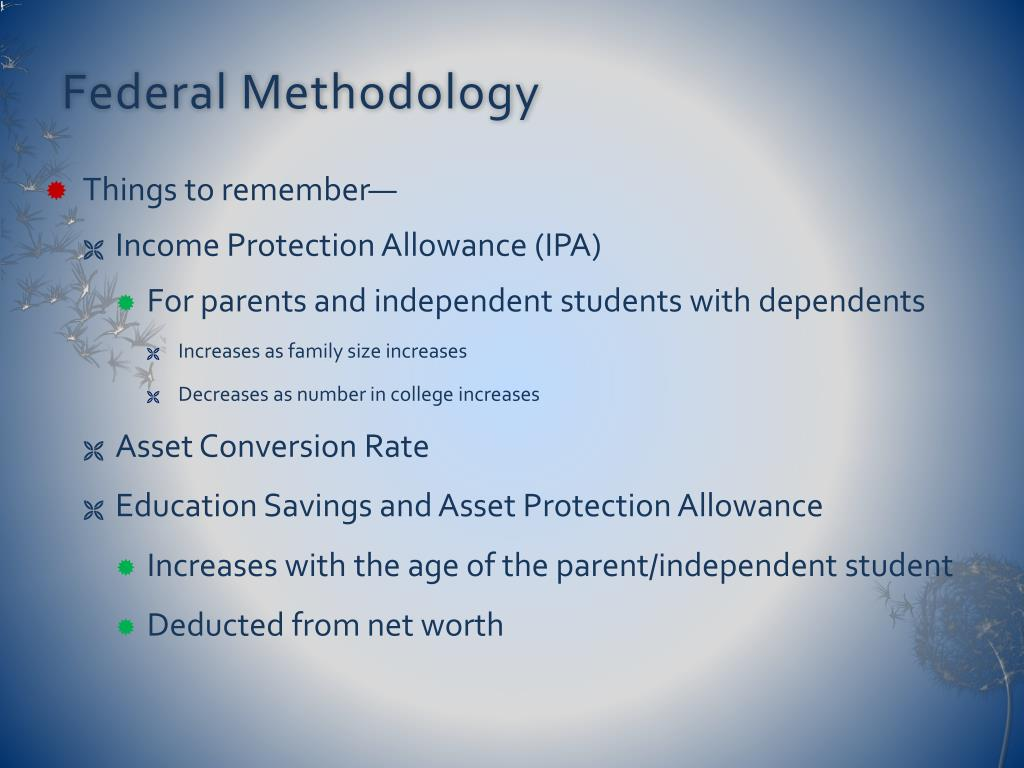 Federal Methodology