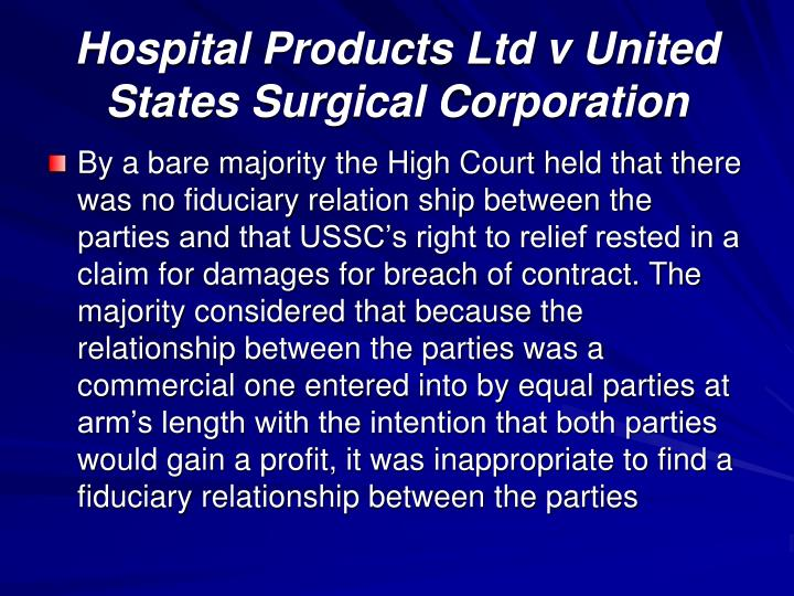 Hospital Products Ltd v United States Surgical Corporation
