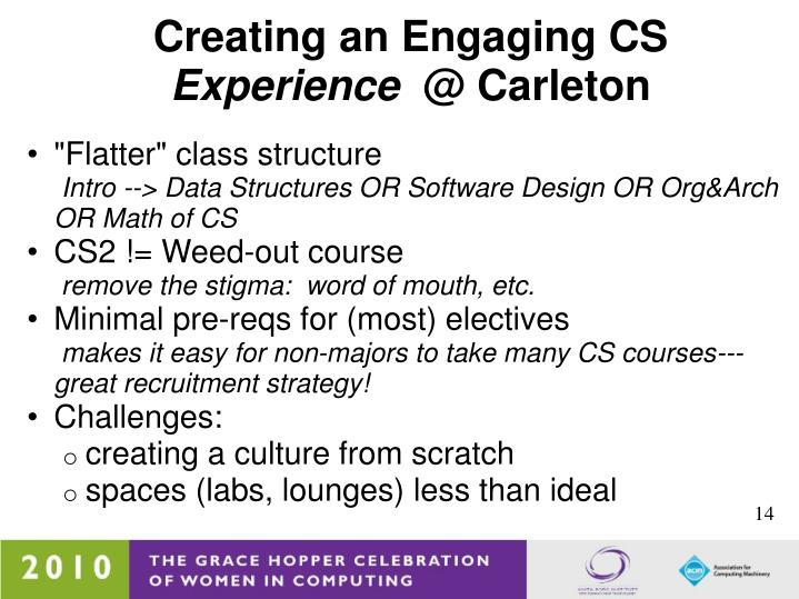 Creating an Engaging CS