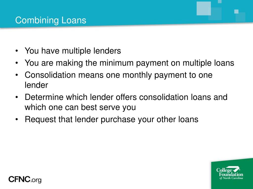 Combining Loans