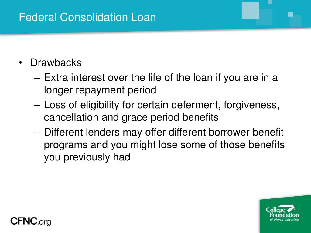 Federal Consolidation Loan