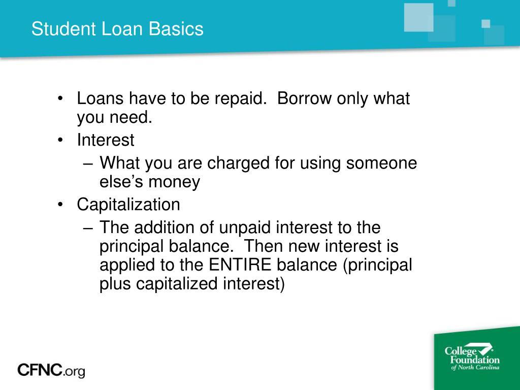 Student Loan Basics