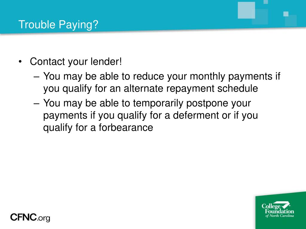 Trouble Paying?