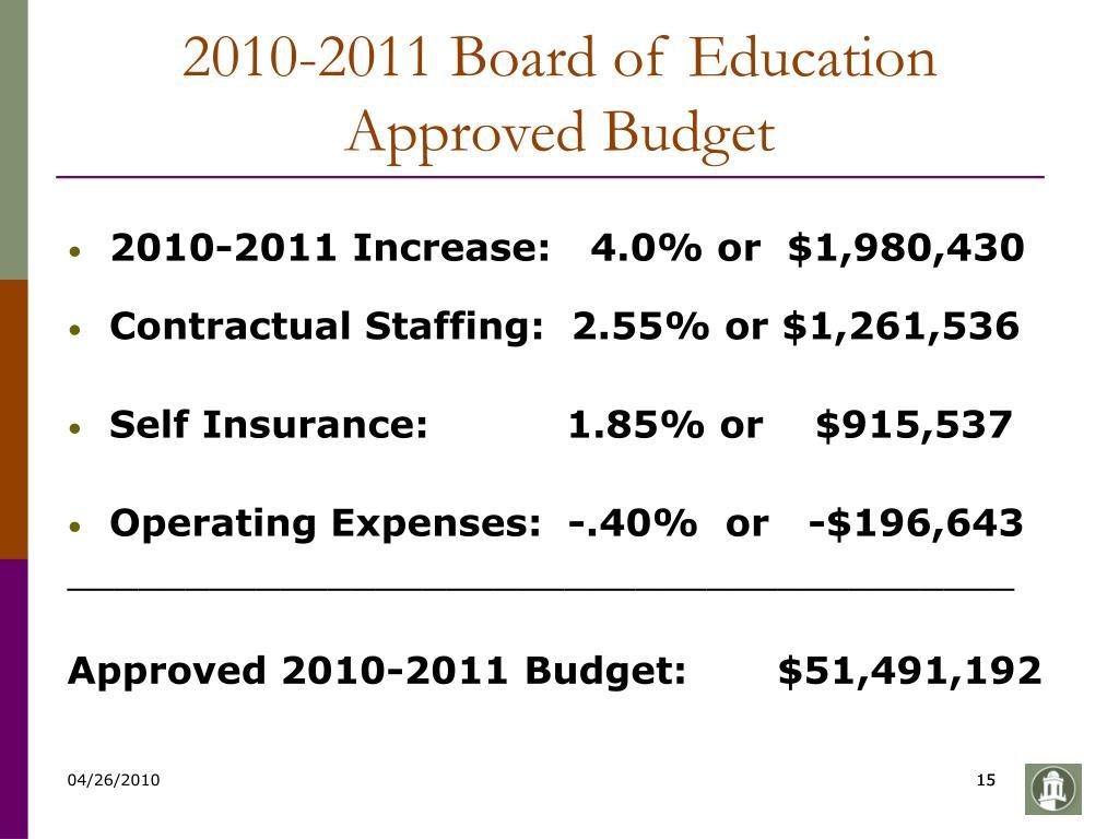 2010-2011 Board of Education