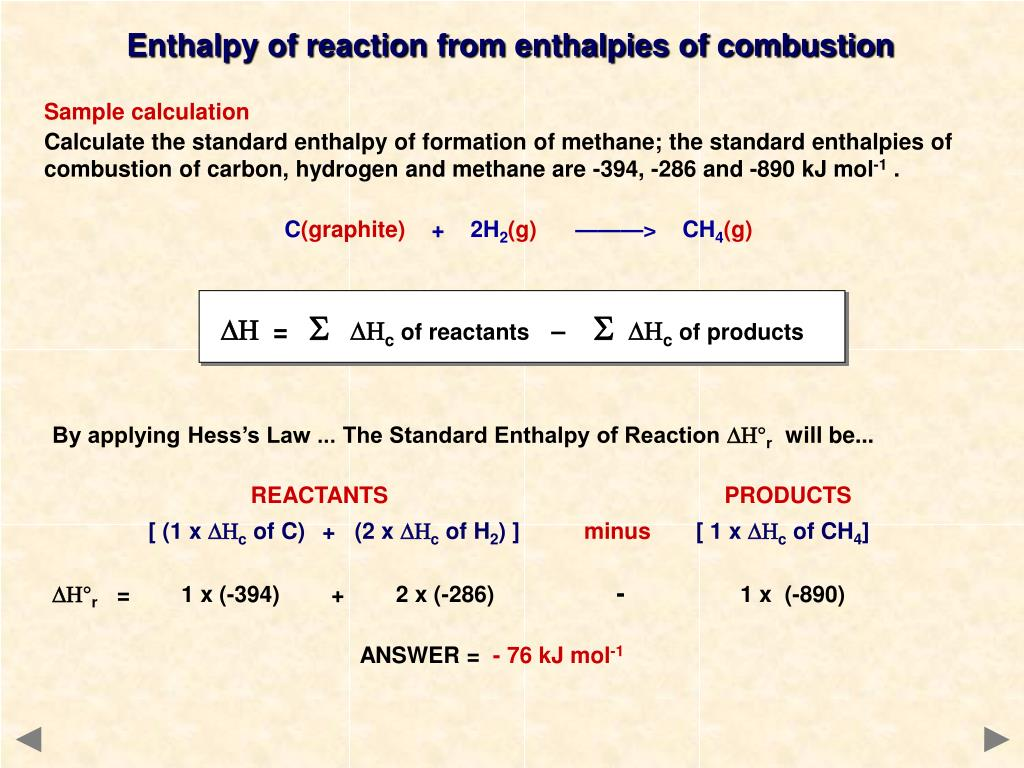 PPT - ENTHALPY CHANGES A guide for A level students PowerPoint