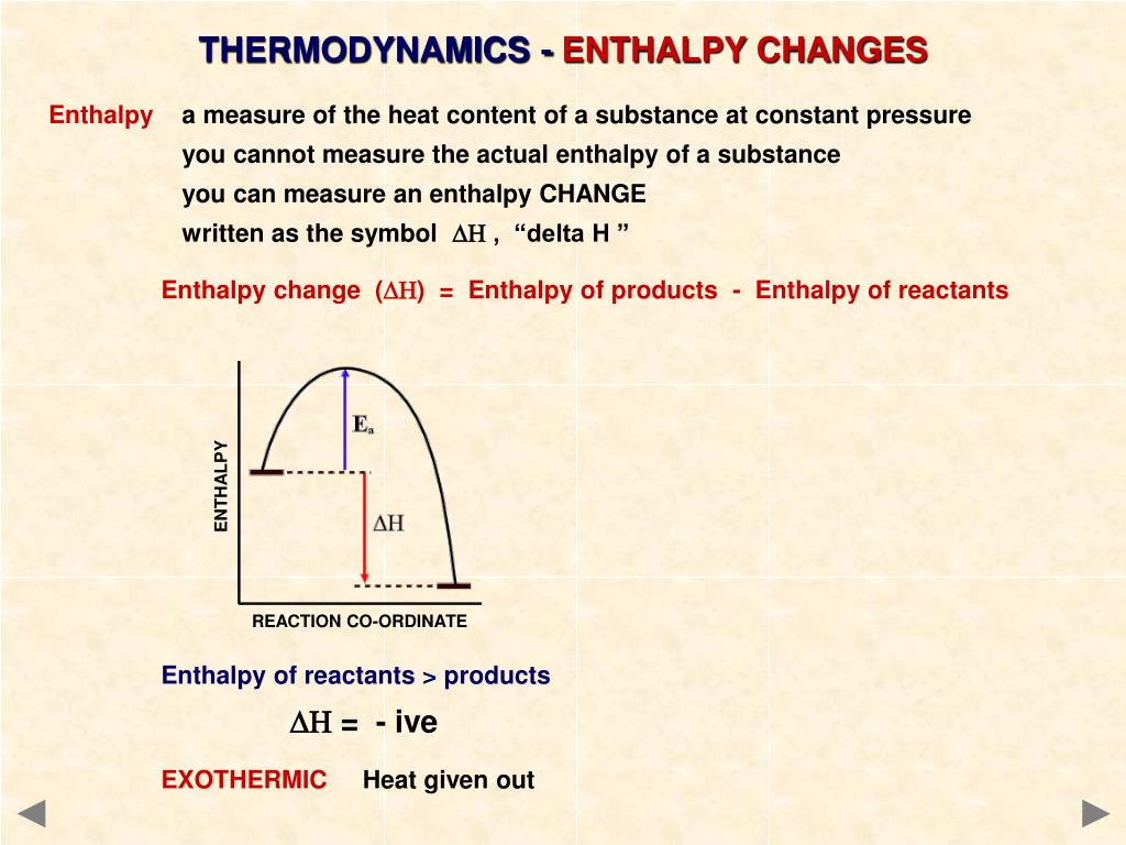 PPT - ENTHALPY CHANGES A guide for A level students ...