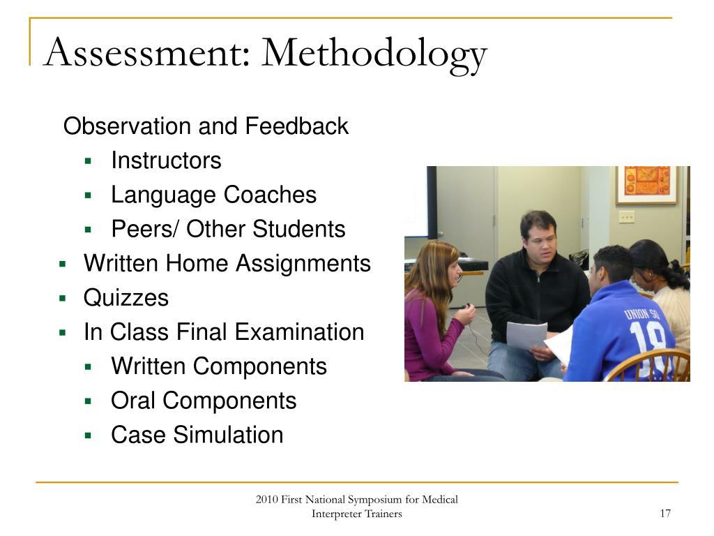 Assessment: Methodology