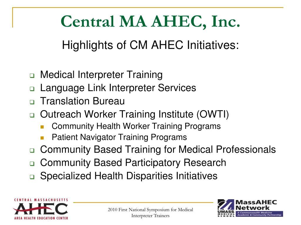 Central MA AHEC, Inc.
