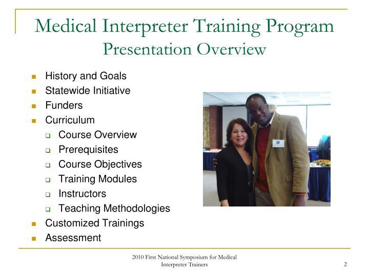 Medical interpreter training program presentation overview