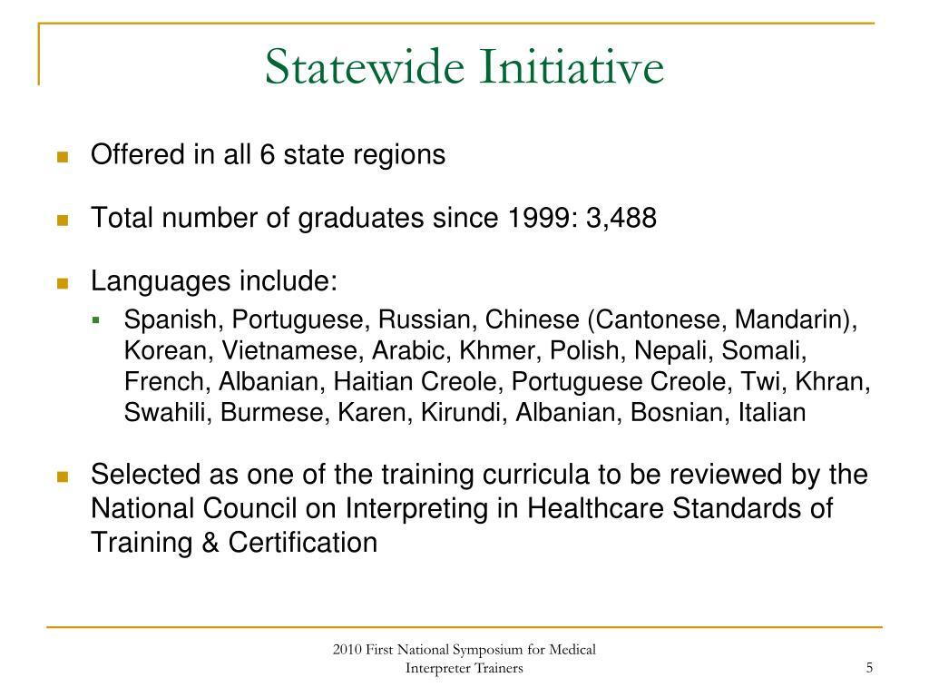 Statewide Initiative