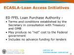 ecasla loan access initiatives22
