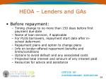 heoa lenders and gas64