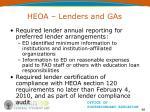 heoa lenders and gas66