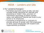 heoa lenders and gas68