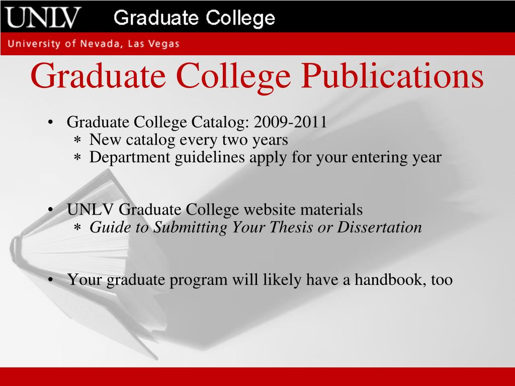 Graduate College Publications