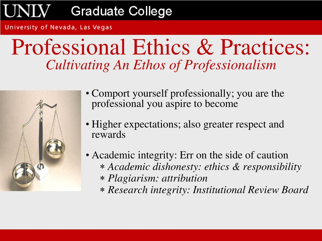 Professional Ethics & Practices: