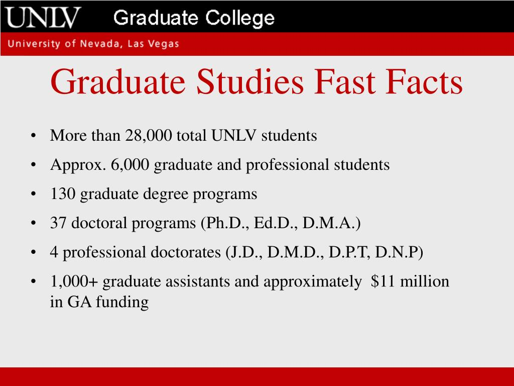 Graduate Studies Fast Facts