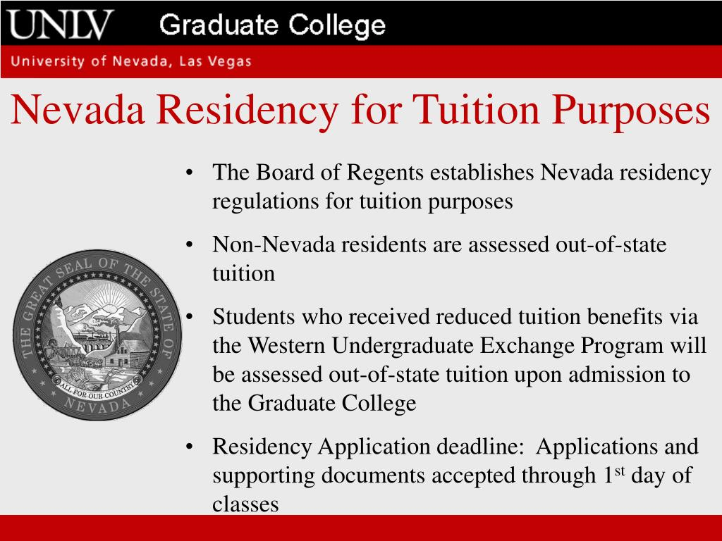 Nevada Residency for Tuition Purposes