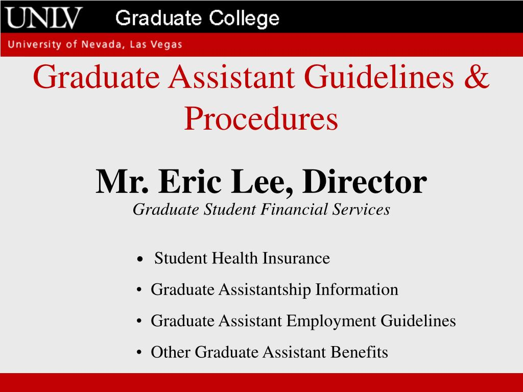 Graduate Assistant Guidelines & Procedures