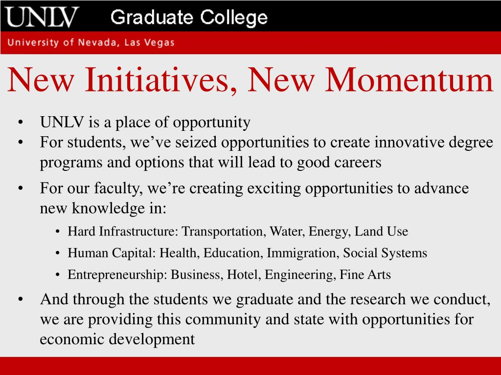 New Initiatives, New Momentum