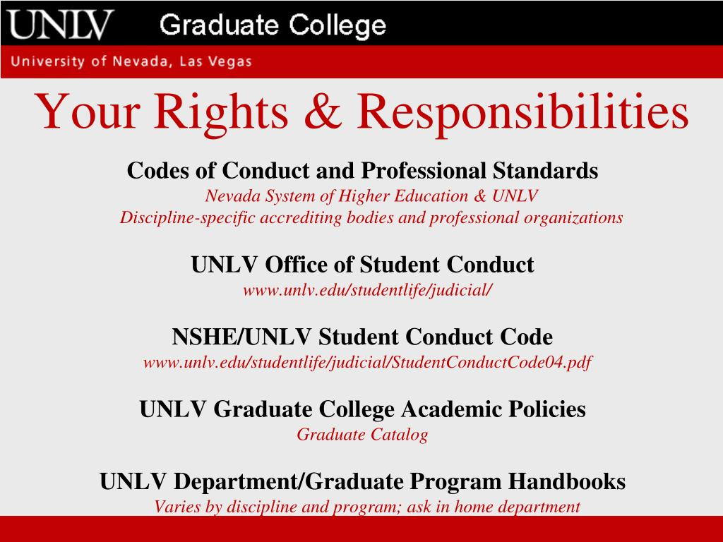 Your Rights & Responsibilities