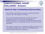 constitutional court challenge answers