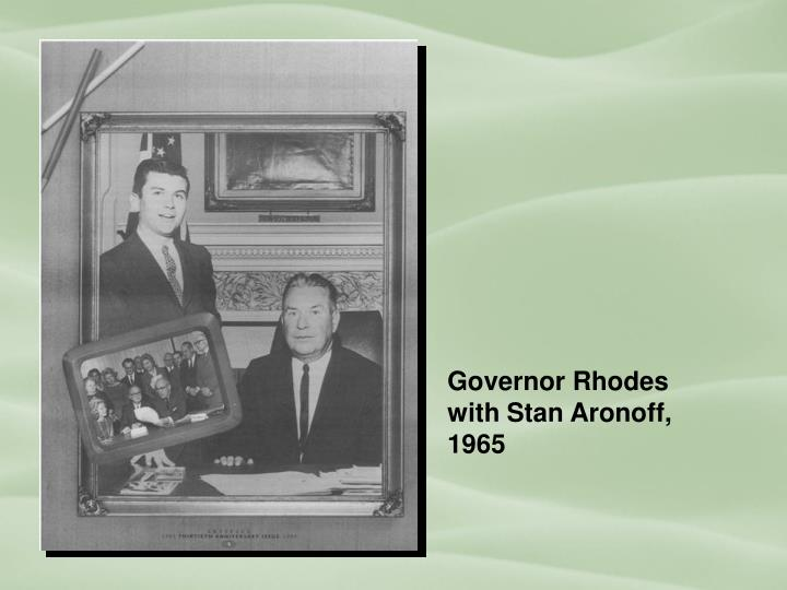 Governor Rhodes with Stan Aronoff, 1965
