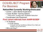 ccs iel bct program for boomers