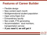 features of career builder
