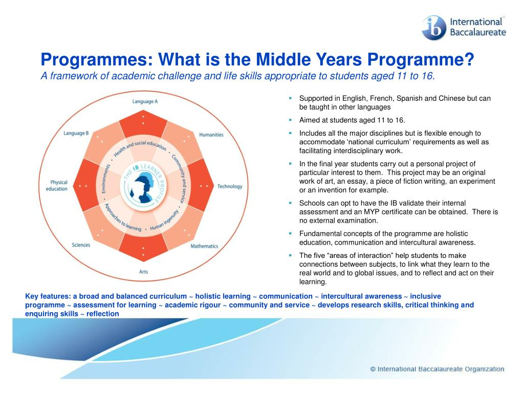 Programmes: What is the Middle Years Programme?