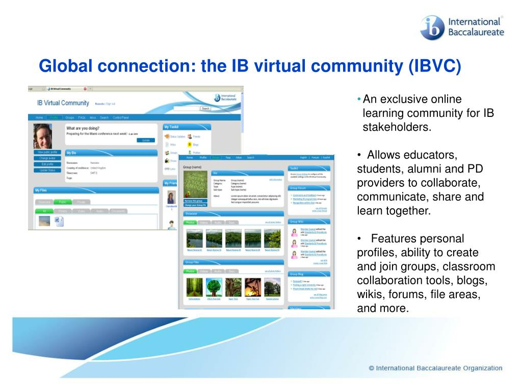 Global connection: the IB virtual community (IBVC)