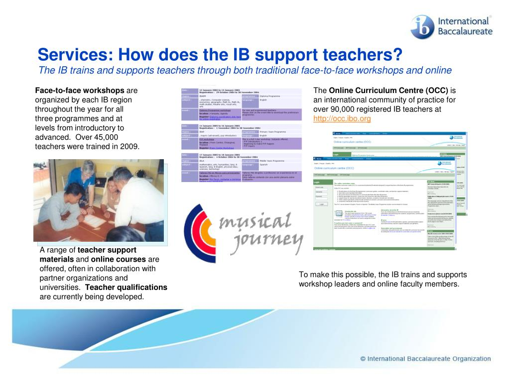 Services: How does the IB support teachers?