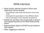 kdsa intention