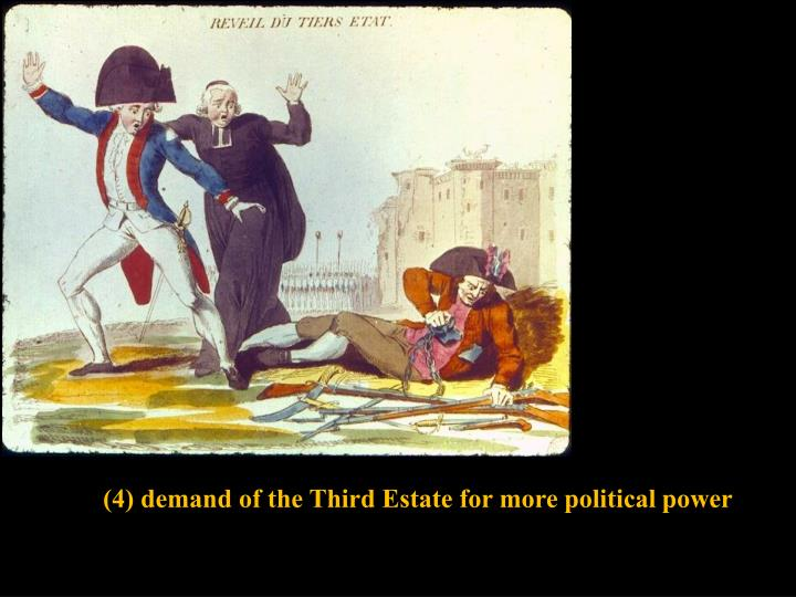 (4) demand of the Third Estate for more political power
