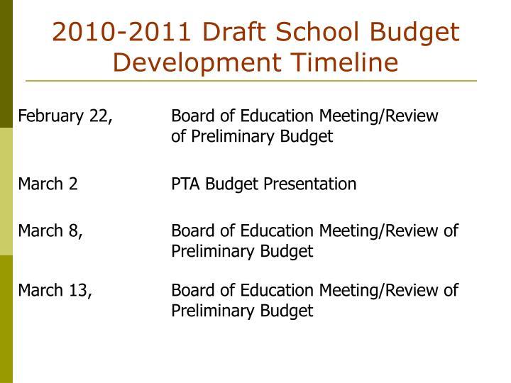 2010 2011 draft school budget development timeline3