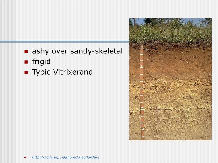 ashy over sandy-skeletal