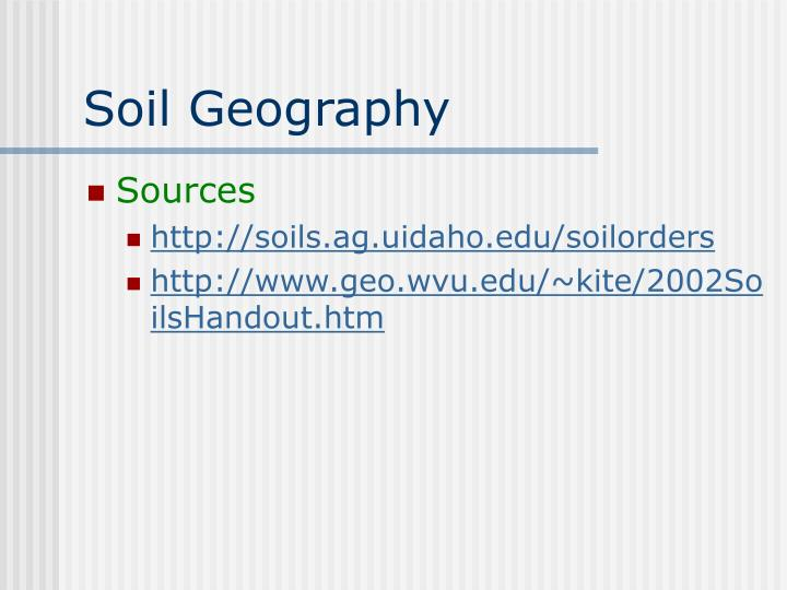 Soil geography
