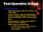 post operative orders