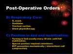 post operative orders1