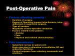 post operative pain